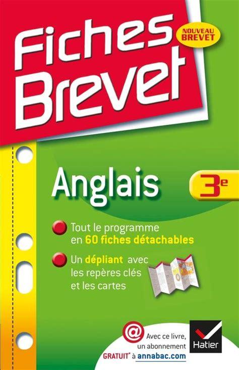 Fiches Brevet Anglais 3e Fiches De Cours Troisieme