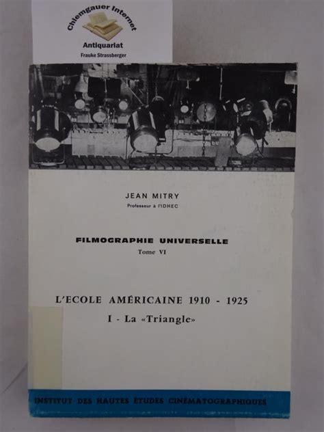 Filmographie universelle : 1915-1935 (Cours et publications de l'IDHEC)