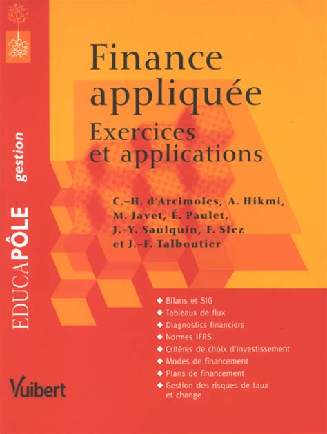 Finance Appliquee Exercices Et Applications