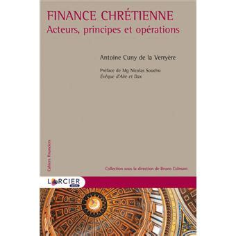 Finance Chretienne Acteurs Principes Et Operations