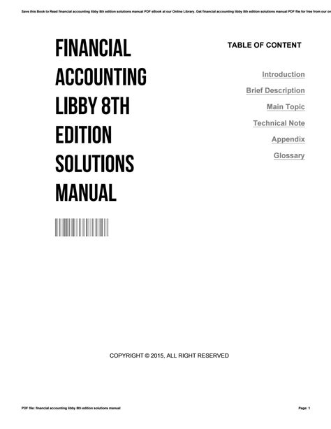 Financial Accounting 8e Solutions Manual