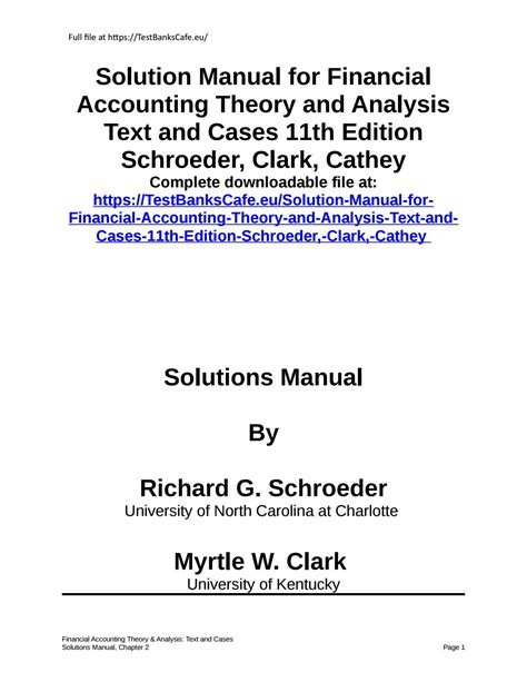 Financial Accounting Theory And Practice Manual Solution