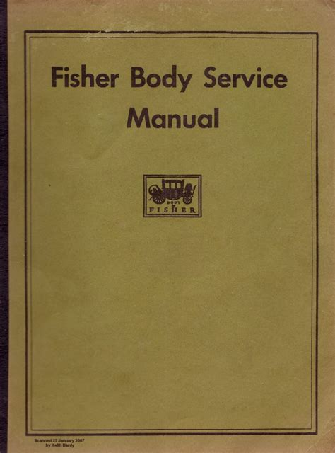 Fisher Body Service Manual