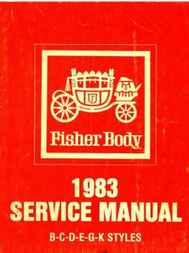 Fisher Body Service Manual 1983 20495011