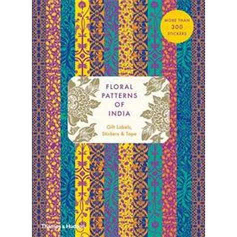 Floral Patterns Of India Sticker Andamp Tape Book