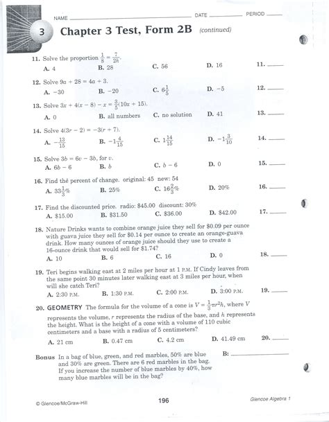 Florida Assessment Guide Chapter Test Form