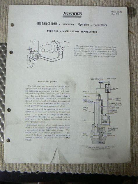 Flow Transmitter Foxboro Manual
