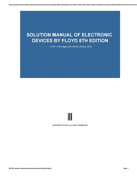 Floyd Electronic Devices 8th Edition Solution Manual