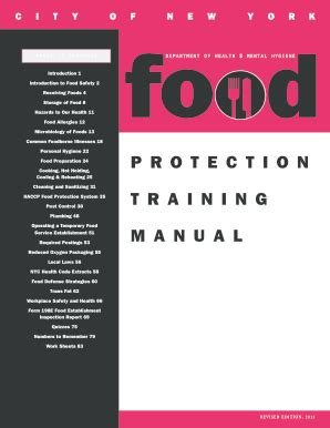 Food Protection Course Manual