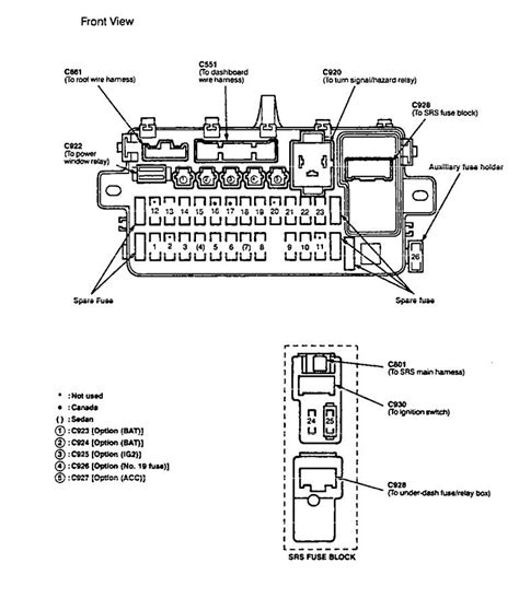 For A 1997 Acura Fuse Box Layout