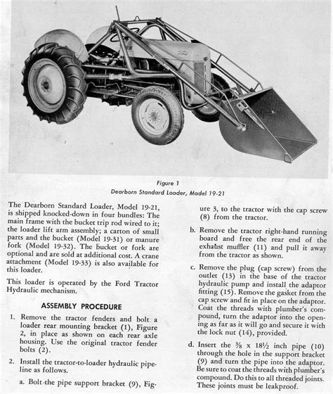 Ford 19 21 Dearborn Loader Manual