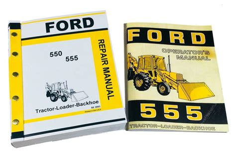 Ford 555 Tractor Backhoe Loader Service Repair Manual