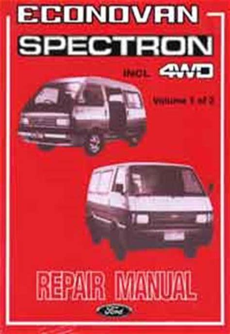 Ford Econovan Repair Manual 1987
