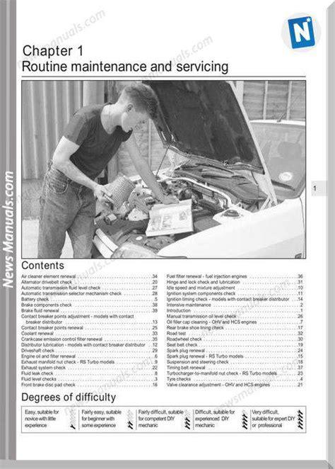 Ford Escort Service Manual