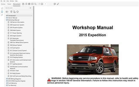 Ford Expedition 2015 Repair Manual
