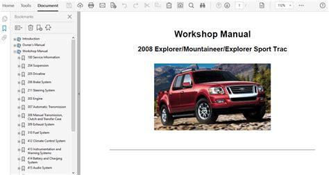Ford Explorer Service Repair Manual Torrent
