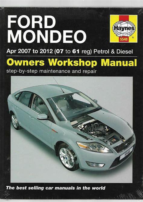 Ford Mondeo Owners Workshop Manual Haynes Owners Workshop Manuals