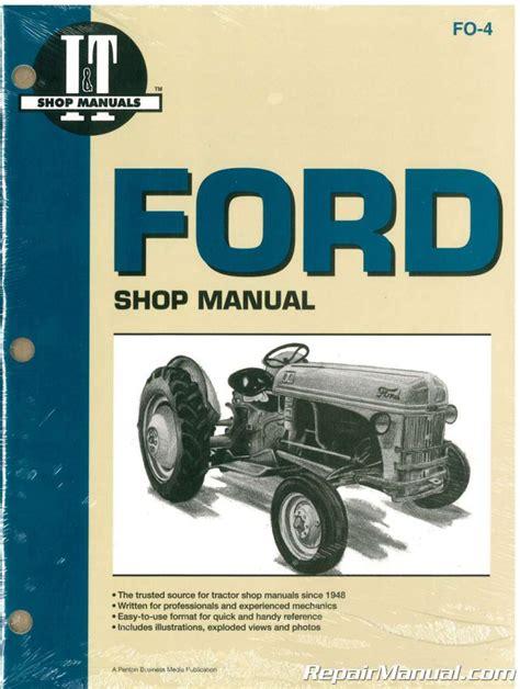 Ford New Holland It Shop Manual Series 2n 8n 9n