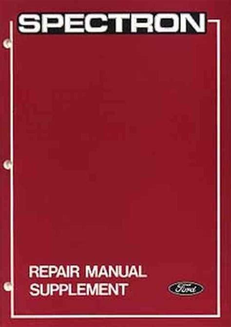 Ford Spectron Repair Manual