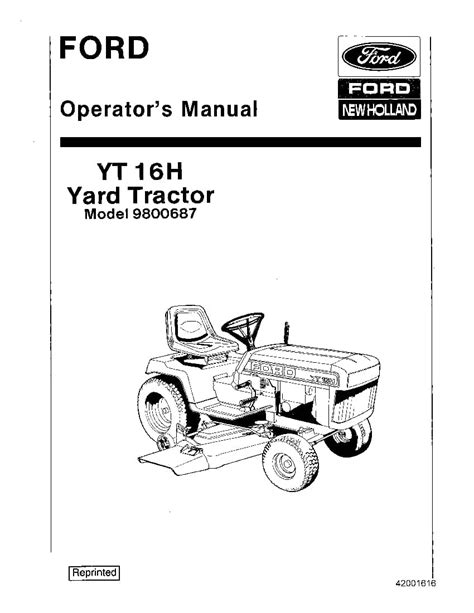 Ford Yt16h Manual