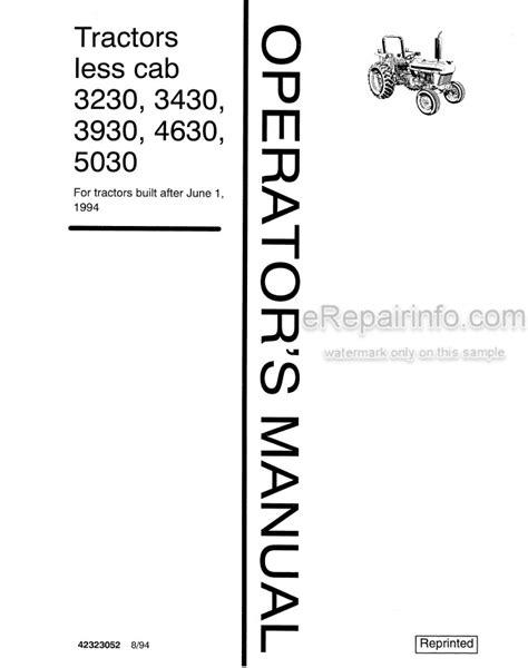 Ford3930 Operator Manual