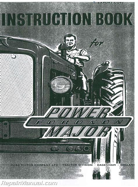 Fordson Power Major Operators Manual Js Fo O Pwr Maj