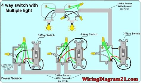 Four Way Switch Wiring Diagram Multiple Lights