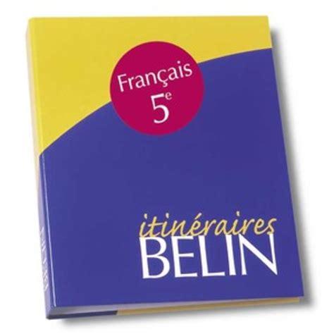 Francais 5e Sequences Et Expression Classeur Itineraires Livre Du Professeur