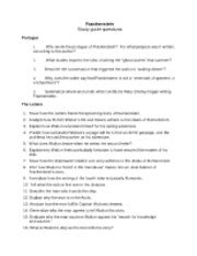 Frankenstein Study Guide Prologue
