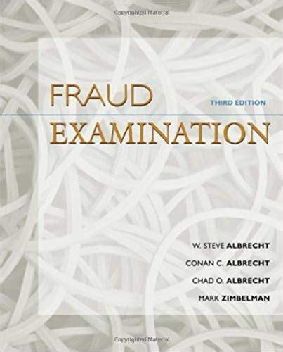 Fraud Examination 3rd Edition Solution Manual
