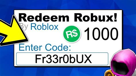 4 Things Free Robux Codes For Robux