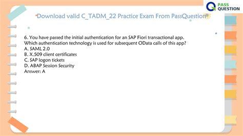 Free C-TADM-21 Practice