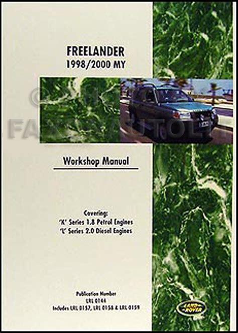 Freelander Shop Manual