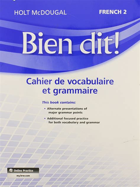 French 2 Bien Dit Workbook Answers