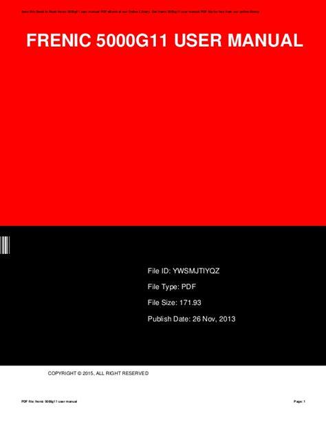Frenic 5000g11 User Manual