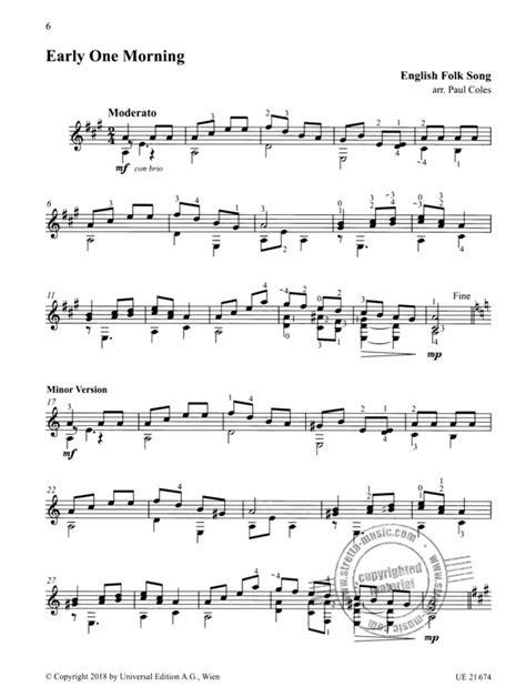 From Folk To Classical 2 24 Favourite Pieces Arranged For The Moderately Advanced Guitarist