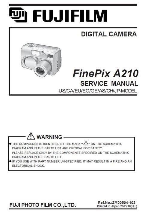 Fuji Finepix A210service Repair Manual