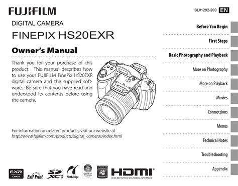 Fujifilm Finepix Hs20exr Owners Manual