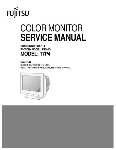 Fujitsu 17p4 Service Manual