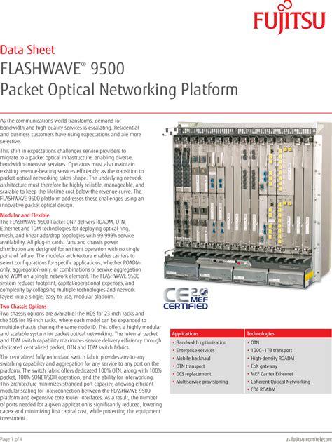 Fujitsu 9500 Manual
