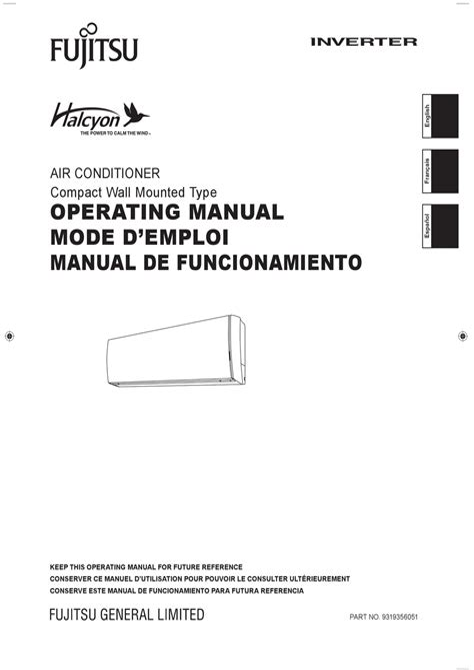 Fujitsu Inverter User Manual