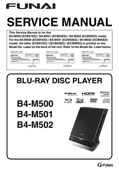 Funai B4 M500 Manual