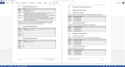 Functional Requirements Document Template