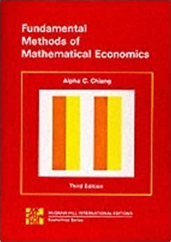 Fundamental Methods Mathematical Economics Chiang Instructors Manual