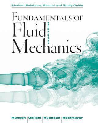Fundamentals Of Fluid Mechanics Student Solutions Manual