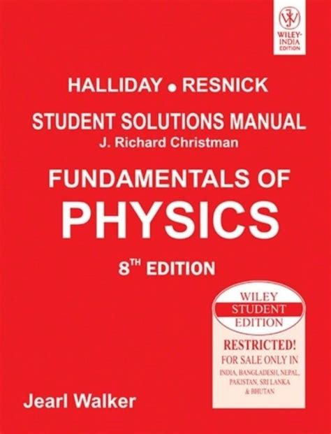 Fundamentals Of Physics Eighth Edition Solution Manual