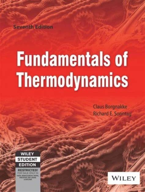 Fundamentals Of Thermodynamics Claus Solution Manual