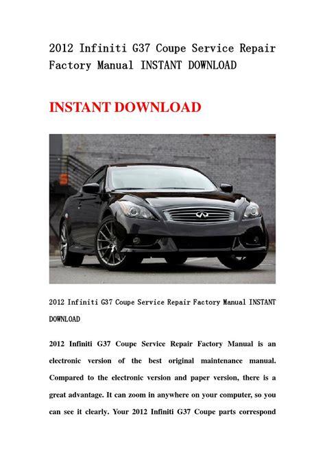 G37 Factory Service Manual