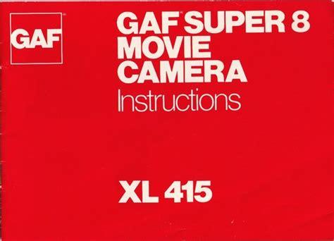 Gaf Xl415 Super 8 Movie Camera Manual