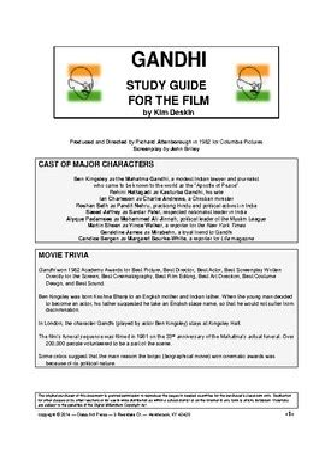Gandhi Study Guide